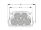AR-040 ATEX SpotLED dimensions