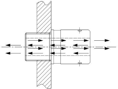 AR-081 ATEX bulkhead connector - breather