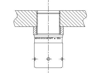 AR-081 ATEX bulkhead connector - drain